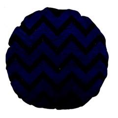 CHV9 BK-MRBL BL-LTHR (R) Large 18  Premium Round Cushions