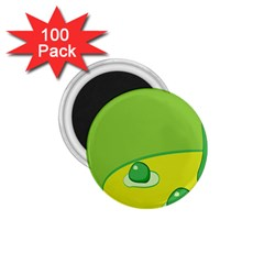 Food Egg Minimalist Yellow Green 1 75  Magnets (100 Pack)