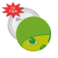 Food Egg Minimalist Yellow Green 2 25  Buttons (10 Pack)