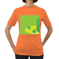 Food Egg Minimalist Yellow Green Women s Dark T Shirt