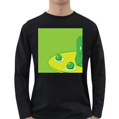 Food Egg Minimalist Yellow Green Long Sleeve Dark T Shirts