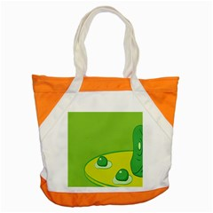 Food Egg Minimalist Yellow Green Accent Tote Bag