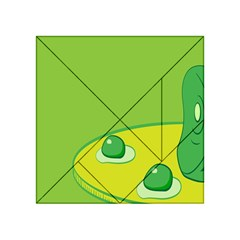 Food Egg Minimalist Yellow Green Acrylic Tangram Puzzle (4  x 4 )