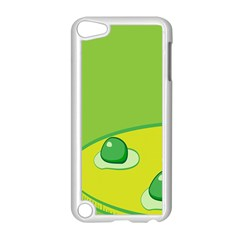Food Egg Minimalist Yellow Green Apple iPod Touch 5 Case (White)