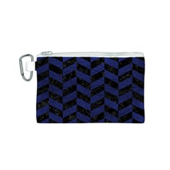 CHV1 BK-MRBL BL-LTHR Canvas Cosmetic Bag (S)