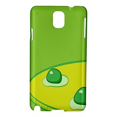 Food Egg Minimalist Yellow Green Samsung Galaxy Note 3 N9005 Hardshell Case