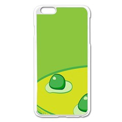 Food Egg Minimalist Yellow Green Apple Iphone 6 Plus/6s Plus Enamel White Case