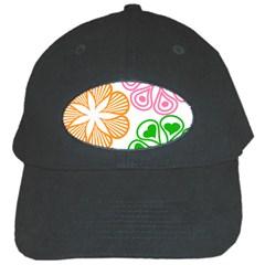 Flower Floral Love Valentine Star Pink Orange Green Black Cap