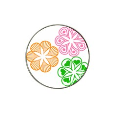 Flower Floral Love Valentine Star Pink Orange Green Hat Clip Ball Marker (10 Pack)
