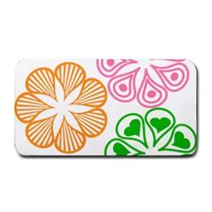Flower Floral Love Valentine Star Pink Orange Green Medium Bar Mats