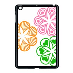 Flower Floral Love Valentine Star Pink Orange Green Apple iPad Mini Case (Black)