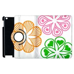 Flower Floral Love Valentine Star Pink Orange Green Apple Ipad 2 Flip 360 Case