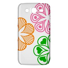 Flower Floral Love Valentine Star Pink Orange Green Samsung Galaxy Mega 5.8 I9152 Hardshell Case