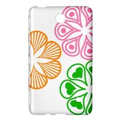 Flower Floral Love Valentine Star Pink Orange Green Samsung Galaxy Tab 4 (8 ) Hardshell Case