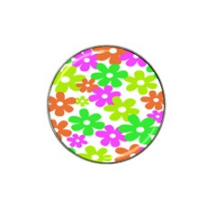 Flowers Floral Sunflower Rainbow Color Pink Orange Green Yellow Hat Clip Ball Marker (10 pack)