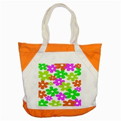 Flowers Floral Sunflower Rainbow Color Pink Orange Green Yellow Accent Tote Bag