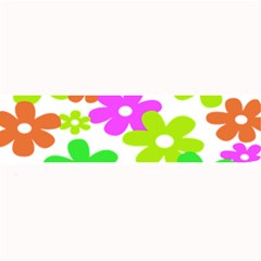 Flowers Floral Sunflower Rainbow Color Pink Orange Green Yellow Large Bar Mats