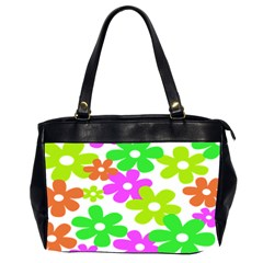 Flowers Floral Sunflower Rainbow Color Pink Orange Green Yellow Office Handbags (2 Sides)
