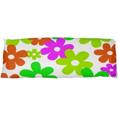 Flowers Floral Sunflower Rainbow Color Pink Orange Green Yellow Body Pillow Case (Dakimakura)