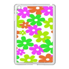 Flowers Floral Sunflower Rainbow Color Pink Orange Green Yellow Apple Ipad Mini Case (white)