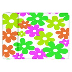 Flowers Floral Sunflower Rainbow Color Pink Orange Green Yellow Samsung Galaxy Tab 8 9  P7300 Flip Case