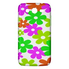Flowers Floral Sunflower Rainbow Color Pink Orange Green Yellow Samsung Galaxy Mega 5.8 I9152 Hardshell Case