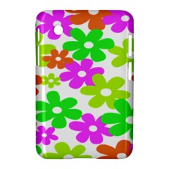 Flowers Floral Sunflower Rainbow Color Pink Orange Green Yellow Samsung Galaxy Tab 2 (7 ) P3100 Hardshell Case