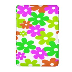 Flowers Floral Sunflower Rainbow Color Pink Orange Green Yellow Samsung Galaxy Tab 2 (10 1 ) P5100 Hardshell Case