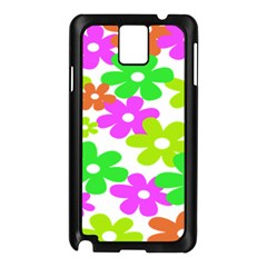 Flowers Floral Sunflower Rainbow Color Pink Orange Green Yellow Samsung Galaxy Note 3 N9005 Case (black)