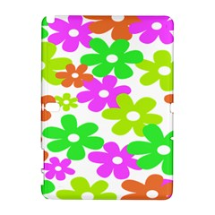 Flowers Floral Sunflower Rainbow Color Pink Orange Green Yellow Galaxy Note 1