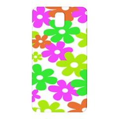 Flowers Floral Sunflower Rainbow Color Pink Orange Green Yellow Samsung Galaxy Note 3 N9005 Hardshell Back Case