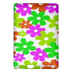 Flowers Floral Sunflower Rainbow Color Pink Orange Green Yellow Amazon Kindle Fire HD (2013) Hardshell Case