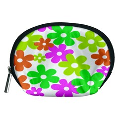 Flowers Floral Sunflower Rainbow Color Pink Orange Green Yellow Accessory Pouches (Medium)