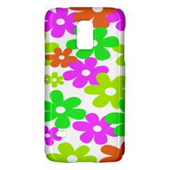 Flowers Floral Sunflower Rainbow Color Pink Orange Green Yellow Galaxy S5 Mini
