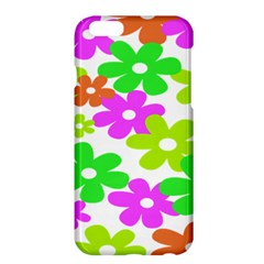 Flowers Floral Sunflower Rainbow Color Pink Orange Green Yellow Apple iPhone 6 Plus/6S Plus Hardshell Case