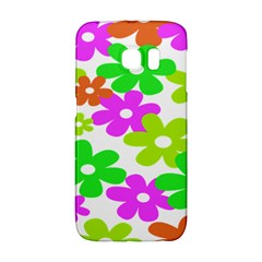 Flowers Floral Sunflower Rainbow Color Pink Orange Green Yellow Galaxy S6 Edge