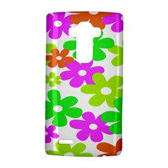 Flowers Floral Sunflower Rainbow Color Pink Orange Green Yellow LG G4 Hardshell Case