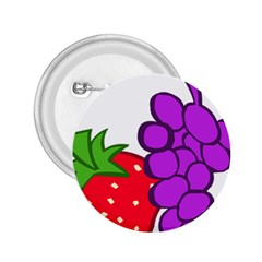 Fruit Grapes Strawberries Red Green Purple 2.25  Buttons