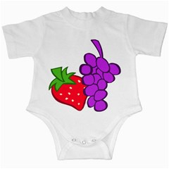 Fruit Grapes Strawberries Red Green Purple Infant Creepers