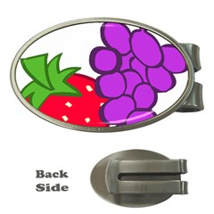Fruit Grapes Strawberries Red Green Purple Money Clips (oval)