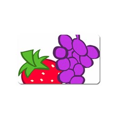 Fruit Grapes Strawberries Red Green Purple Magnet (Name Card)