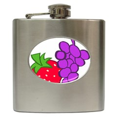 Fruit Grapes Strawberries Red Green Purple Hip Flask (6 oz)