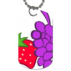 Fruit Grapes Strawberries Red Green Purple Dog Tag (Two Sides)