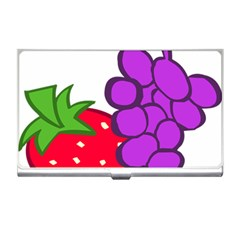 Fruit Grapes Strawberries Red Green Purple Business Card Holders