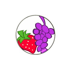 Fruit Grapes Strawberries Red Green Purple Hat Clip Ball Marker