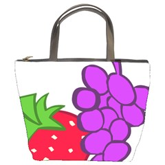 Fruit Grapes Strawberries Red Green Purple Bucket Bags