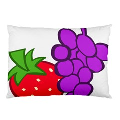 Fruit Grapes Strawberries Red Green Purple Pillow Case