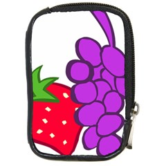 Fruit Grapes Strawberries Red Green Purple Compact Camera Cases
