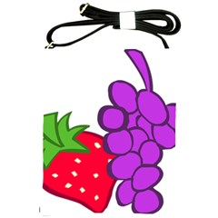 Fruit Grapes Strawberries Red Green Purple Shoulder Sling Bags