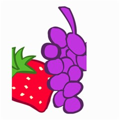 Fruit Grapes Strawberries Red Green Purple Small Garden Flag (Two Sides)